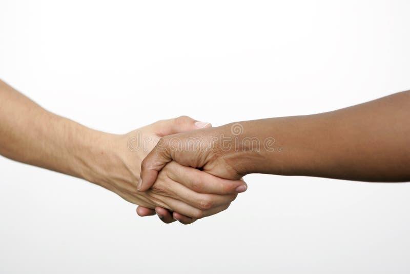 Apretón de manos, aislado imagen de archivo