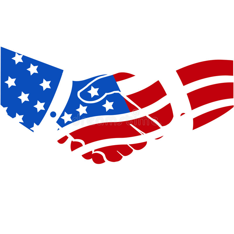 Apretón de manos americano los E.E.U.U. libre illustration