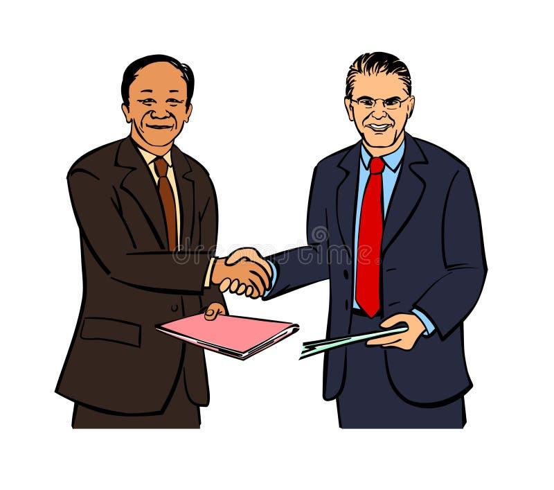 Apretón de manos de dos hombres de negocios libre illustration