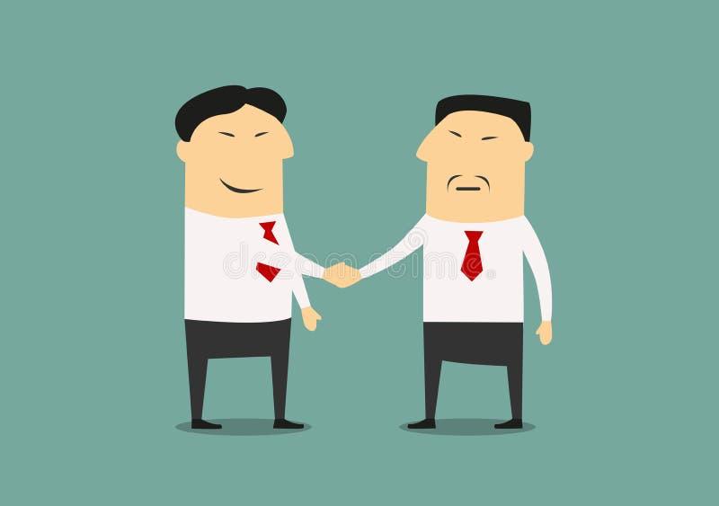 Apretón de manos de dos hombres de negocios asiáticos libre illustration