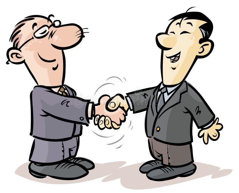 Apretón de manos de los hombres de negocios. stock de ilustración