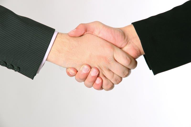 Apretón de manos del acuerdo de dos businessmans foto de archivo libre de regalías