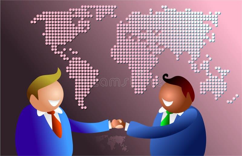 Apretón de manos del mundo stock de ilustración
