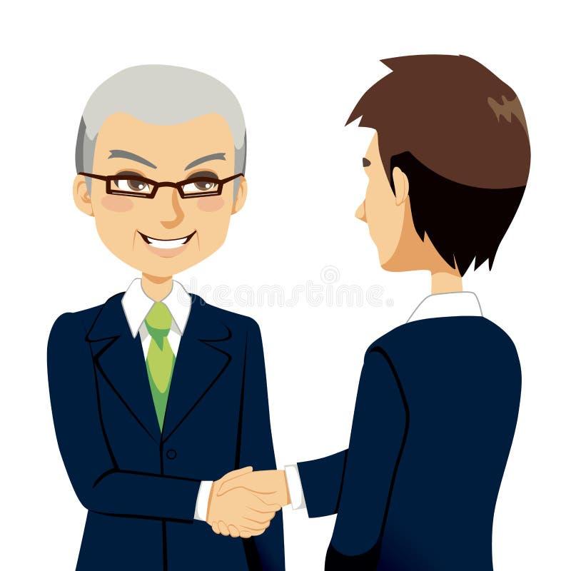 Apretón de manos del vendedor stock de ilustración