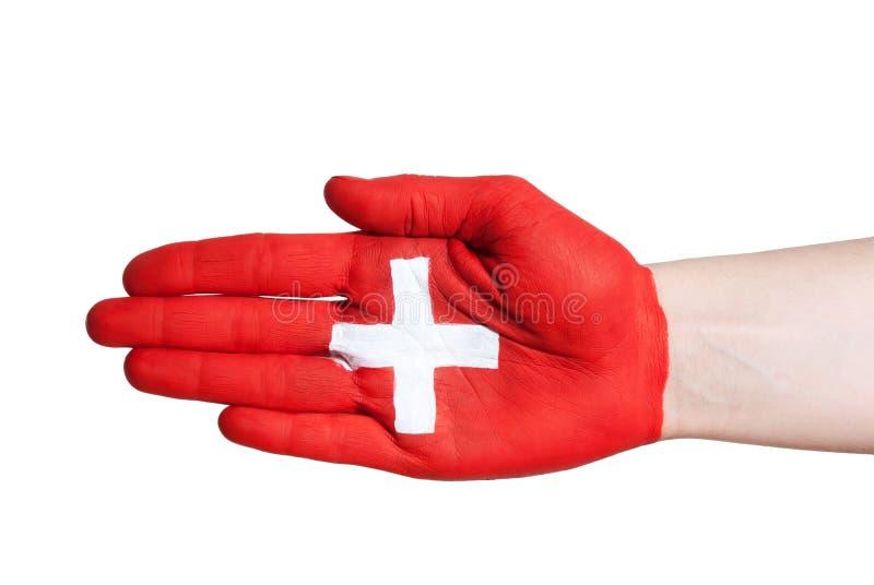Apretón de manos suizo foto de archivo libre de regalías