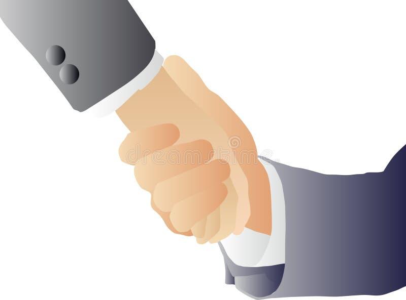 Apretón de manos (vector) ilustración del vector