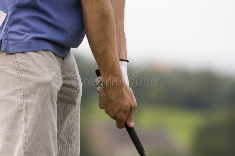 Apretón del golf fotos de archivo