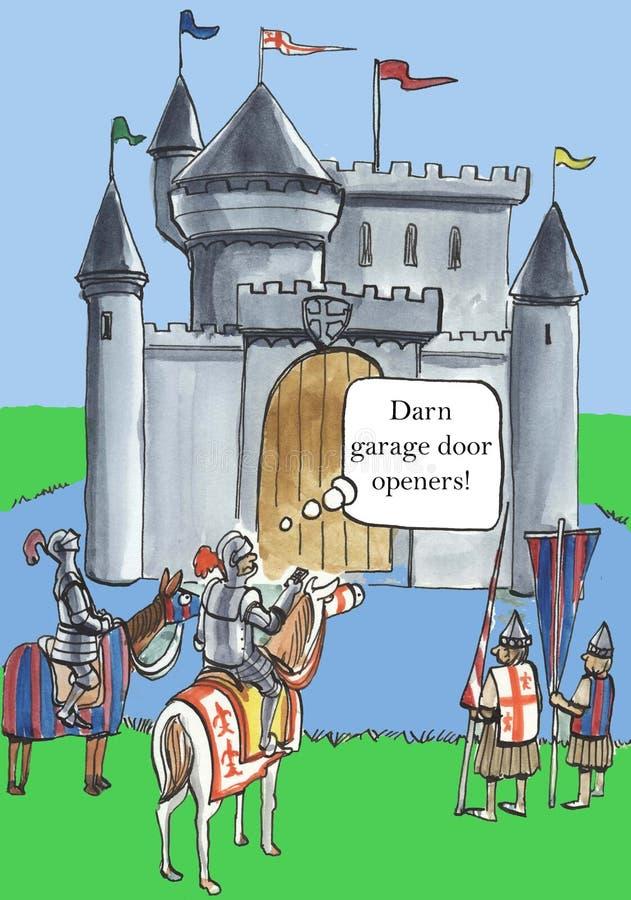 Apri dannati della porta del garage! illustrazione vettoriale