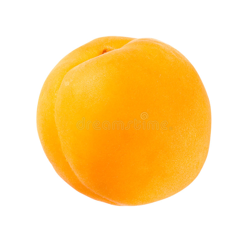 Apricot. Isolated on a white background. Isolation is on a transparent layer in the PNG format stock images