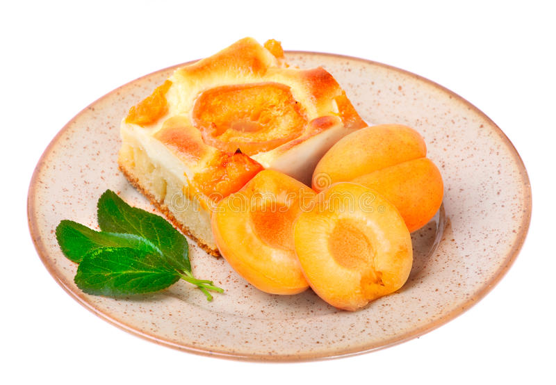 Apricot cake. stock photos