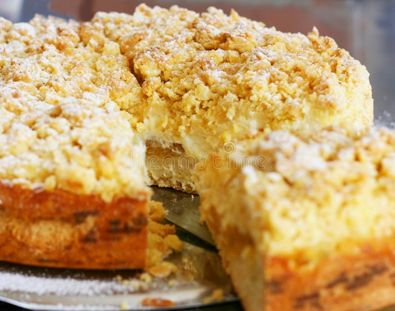 Apricot cake or tart stock images