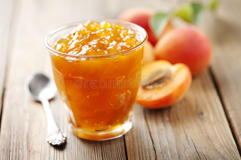 Download Apricot jam stock photo. Image of glass, sweet, peaches - 25468756
