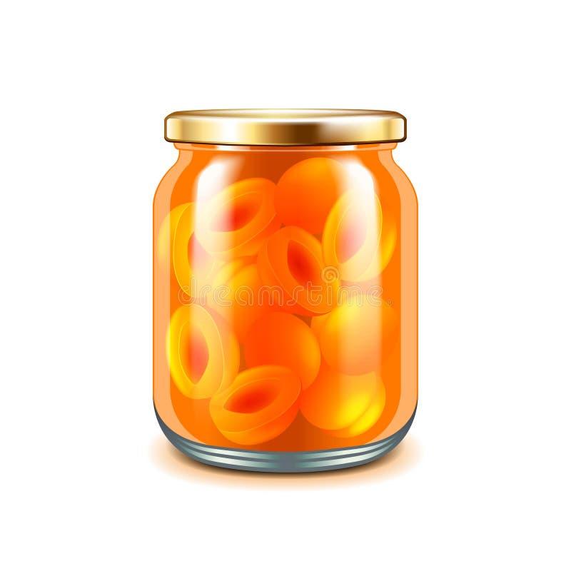 Apricot jam on white vector. Apricot jam on white photo-realistic vector illustration vector illustration