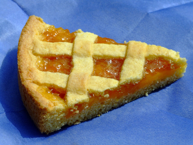 Apricot marmalade tart royalty free stock images