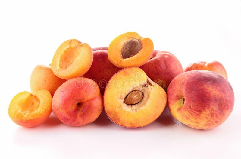 Download Apricot and peach stock photo. Image of vitamin, half - 25228804