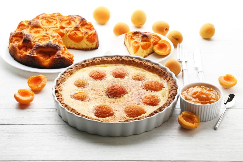 Apricot pies stock photo