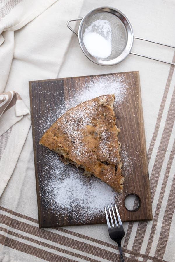 A apricot tart slice royalty free stock image