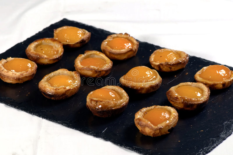 Download Apricot tarts stock image. Image of apricot, slate, twelve - 6610341