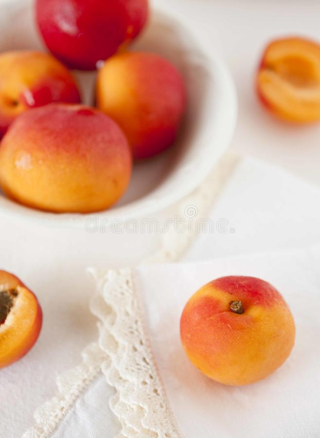 Download Apricots stock photo. Image of orange, napkin, bowl, food - 25562880