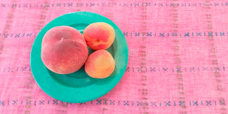 Apricots With Peach in a Plate. Apricots With Peach Served in a Plate royalty free stock images