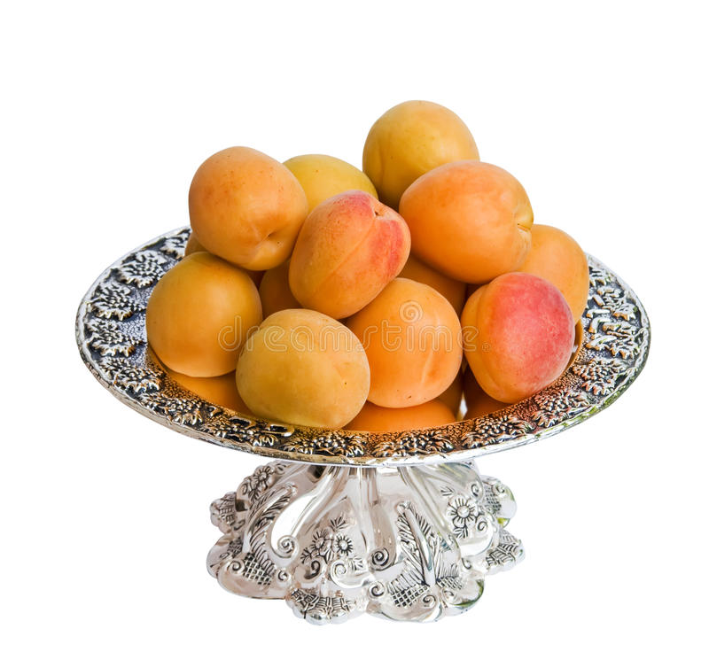 Download Apricots on a plate stock image. Image of yellow, vegetarian - 14854897