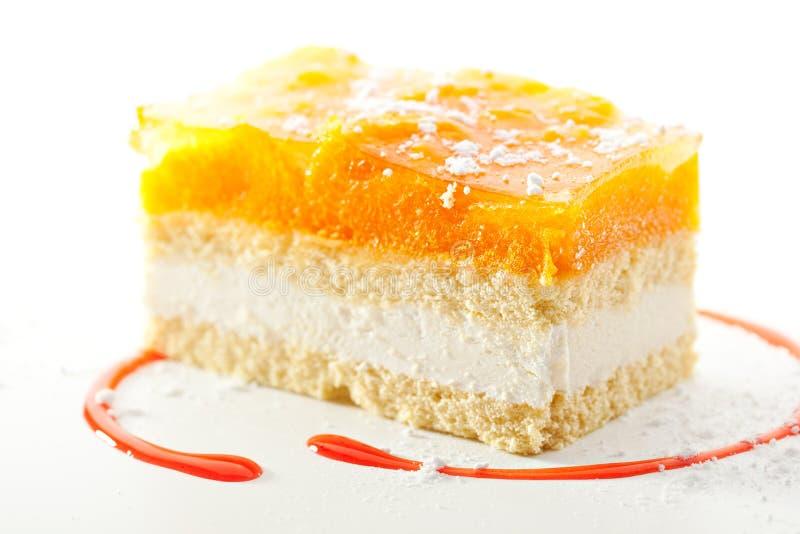 Aprikosen-Kuchen lizenzfreie stockfotos