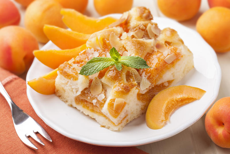Aprikosenkuchen stockbild