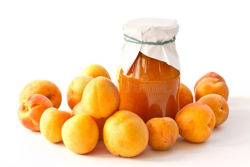 Aprikosenmarmelade lizenzfreie stockfotos