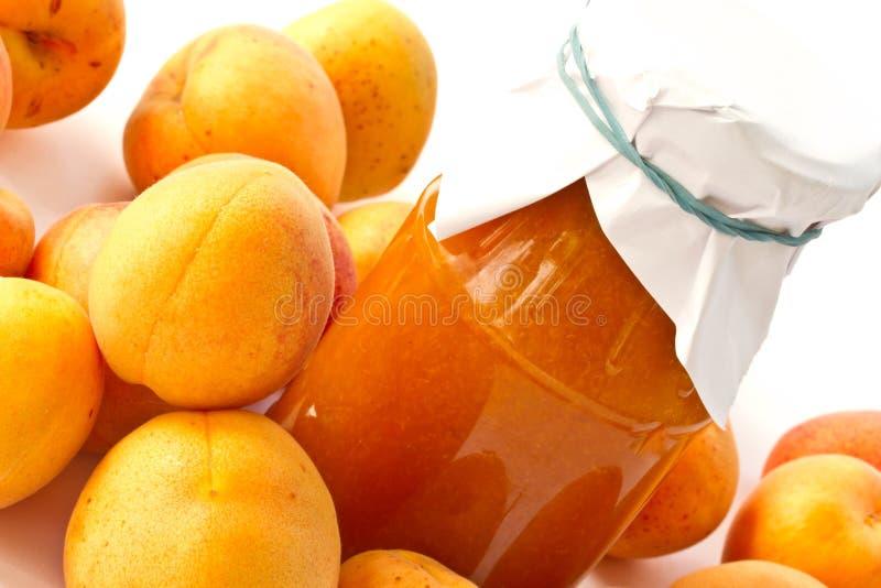 Aprikosenmarmelade stockfotografie