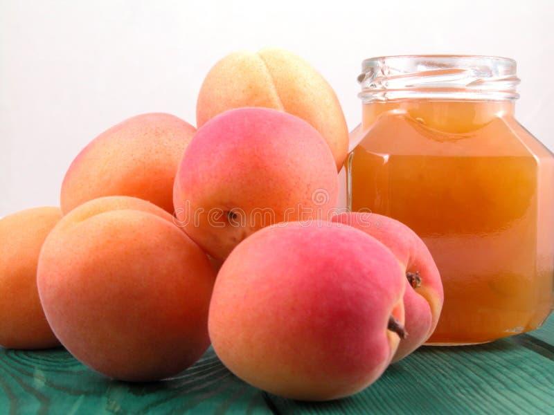 Aprikosenmarmelade Lizenzfreies Stockfoto