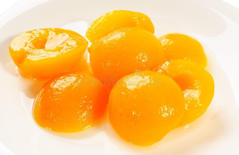 aprikoshälfter arkivfoto