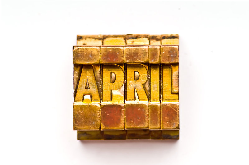 Download April stock image. Image of gold, macro, brass, vintage - 5922405