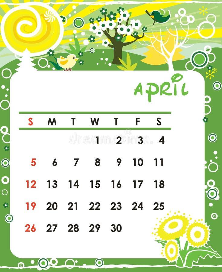 April royalty-vrije illustratie