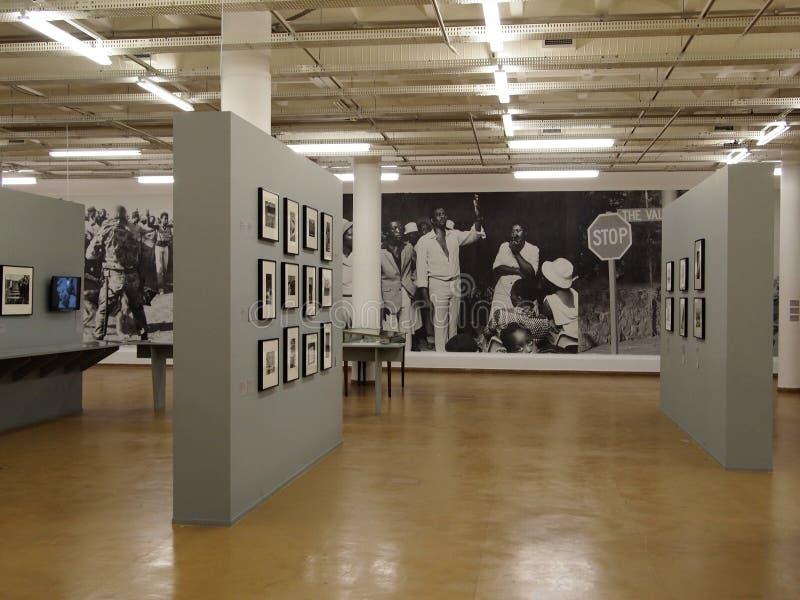 30, April - 2014. Apartheid Museum. Johannesburg. South Africa. 30, April - 2014. Johannesburg. South Africa. Exhibition hall in Apartheid museum royalty free stock photos