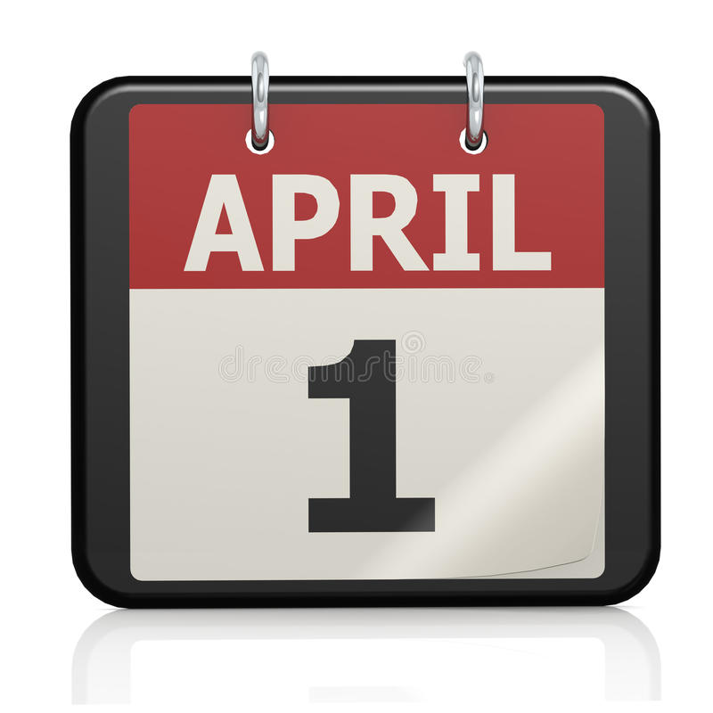 Xs Calendar April : April fools day calander stock illustration