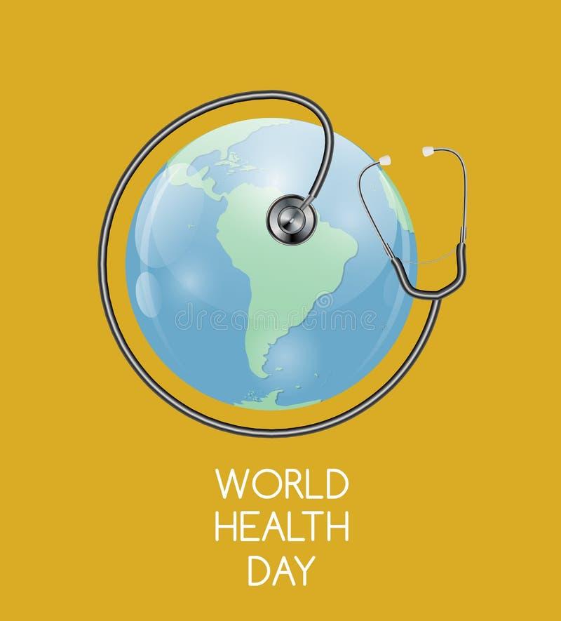 April 7, bakgrund för dag för världshälsa också vektor för coreldrawillustration stock illustrationer