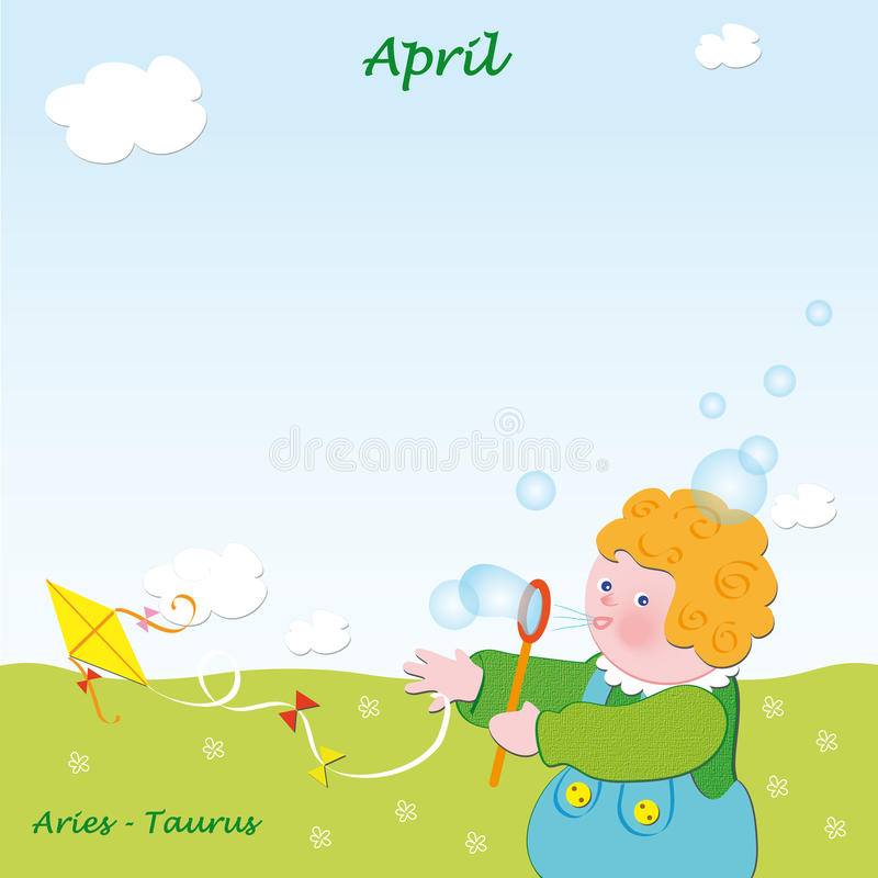 April base calendar to add the days stock photos