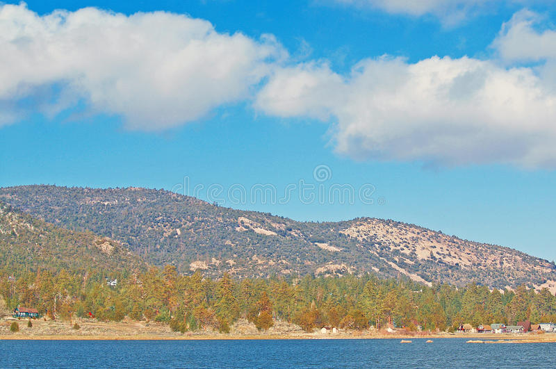April At Big Bear Lake. By early April, most of the snow has melted at Big Bear Lake and the flora is beginning to come out of its winter slumber royalty free stock photos