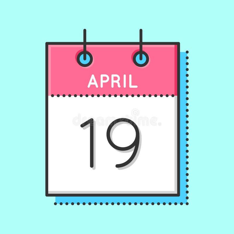 April Calendar Icon ilustração stock