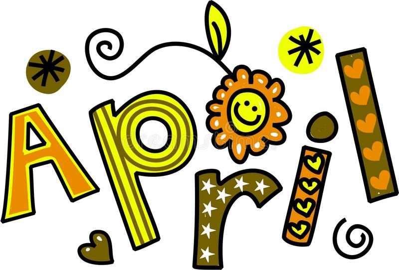 April Clip Art royalty illustrazione gratis