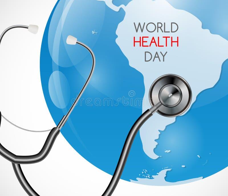 7 april, de Dagachtergrond van de Wereldgezondheid Vector illustratie royalty-vrije illustratie