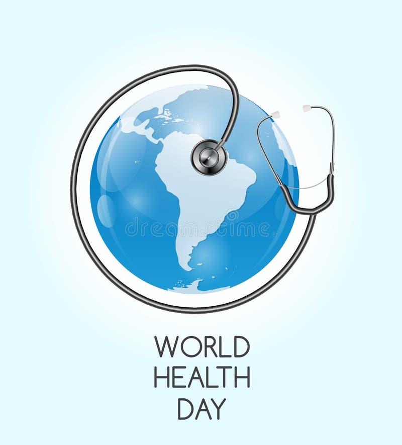 7 april, de Dagachtergrond van de Wereldgezondheid Vector illustratie vector illustratie