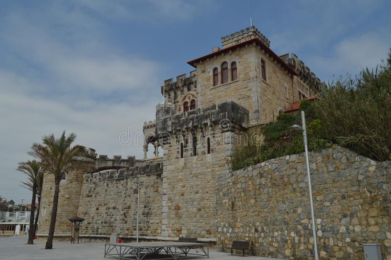 April 15, 2014. Estoril, Cascais, Sintra, Lisbon, Portugal. Nice Fort Of The Cross Dating In The XVII Century Built By Felipe III stock photography