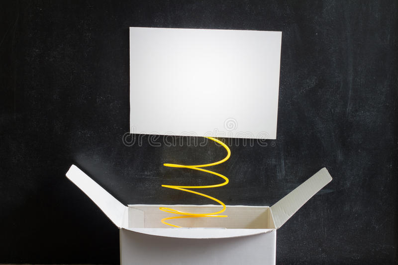 April Fool's Day Abstract box with surprise and joke. Background royalty free stock photography