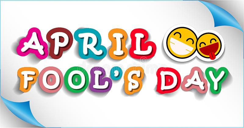 April Fool`s Day Background stock illustration