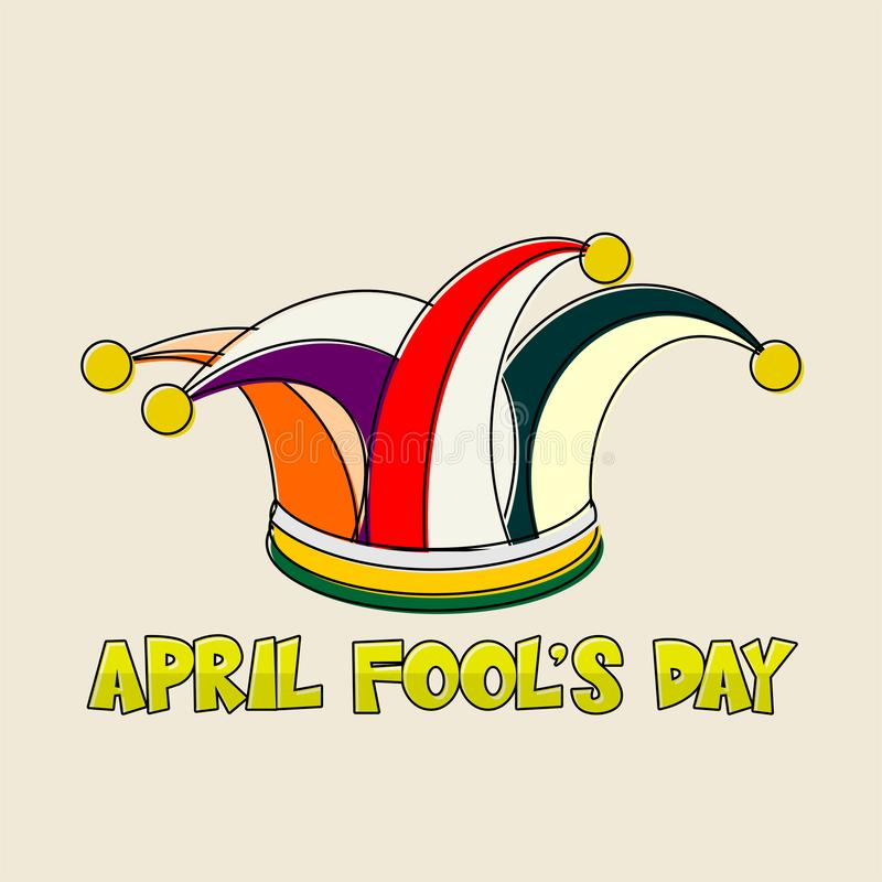 April Fool`s Day royalty free illustration