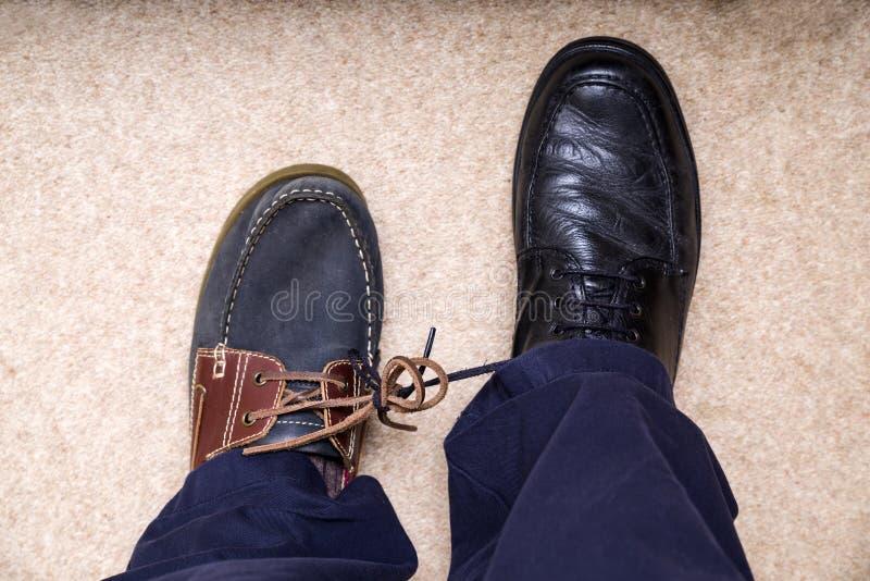 April Fool Trick Shoes royaltyfria bilder
