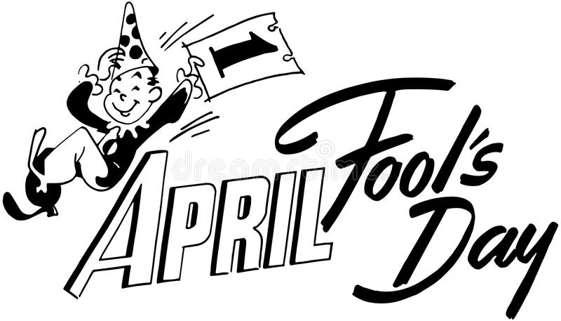 April Fools Day royalty free illustration