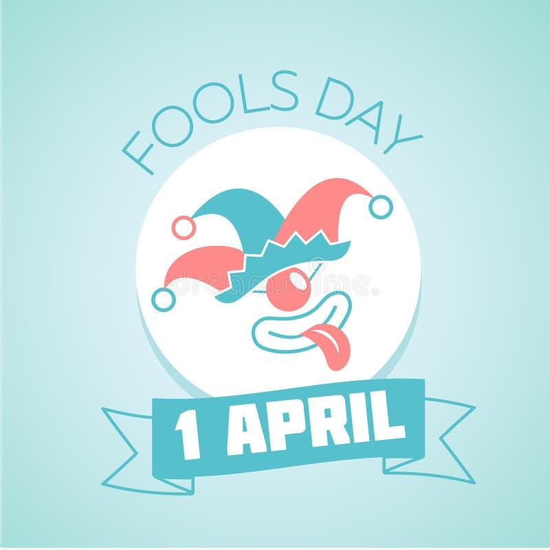 1 April Fools Day illustration stock