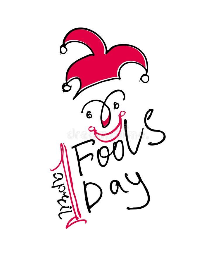 April Fools Day. Handwritten logo. vector illustration